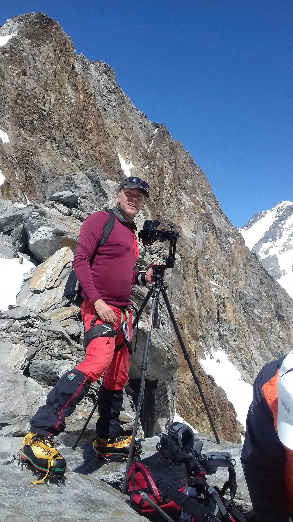 making of de la visite virtuelle de l'ascension des Dômes de Miage. Visite virtuelle HD pour la promotion des sites naturels d'exception.