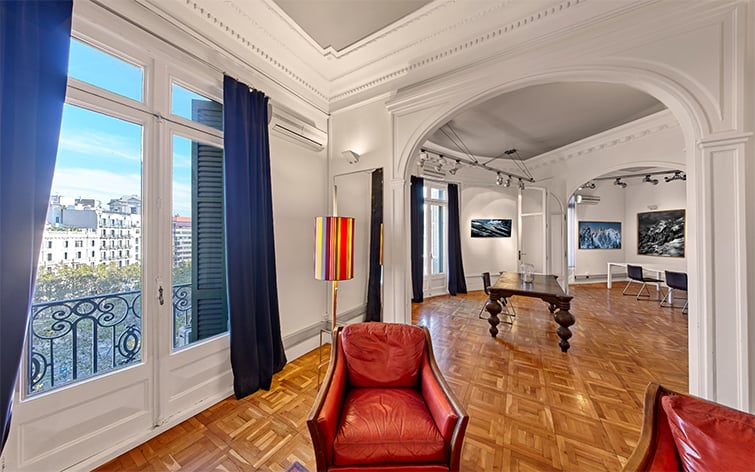 visite virtuelle pour exposition d'œuvres d'art et reproduction HD