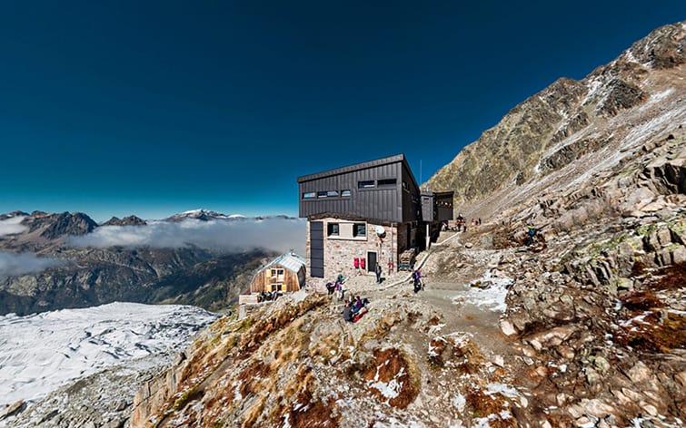 visite virtuelle de refuge de haute montagne