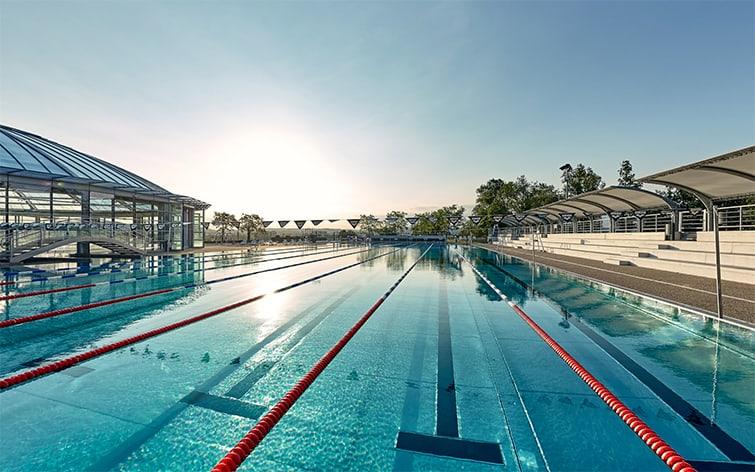 visite virtuelle pour la promotion des piscines communication des stades aquatiques visite virtuelle d'équipements sportifs