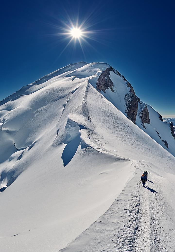 Panoramas du sommet du mont Blanc en 360° Visite virtuelle de l'ascension du mont Blanc